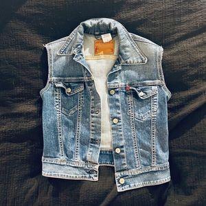Levi's Seni-Vintage Denim Cut Off Vest